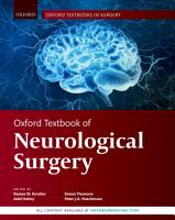 Oxford Textbook of Neurological Surgery PDF