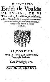 Disputatio de vi turbativa, acutissima et utilissima