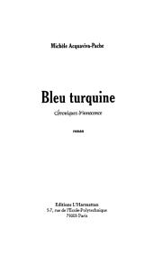 Bleu turquine: chroniques d'innocence