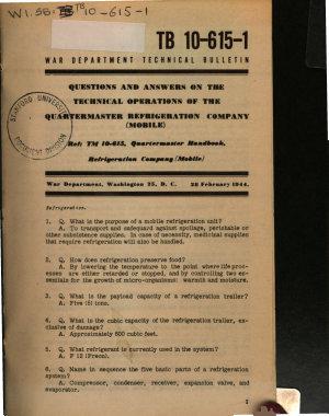 War Department Technical Bulletin PDF