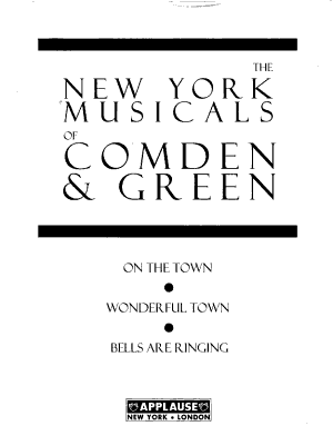 The New York Musicals of Comden   Green