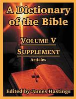 A Dictionary Of The Bible PDF