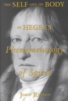 The Self and Its Body in Hegel s Phenomenology of Spirit PDF