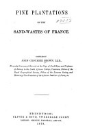 Pine Plantations on the Sand wastes of France PDF