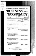 The Philippine Review of Business and Economics