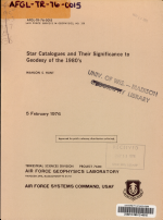 Star Catalogues and Their Significance to Geodesy of the 1980's