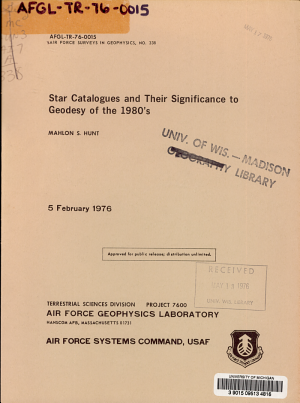 Star Catalogues and Their Significance to Geodesy of the 1980 s