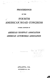 Proceedings of the American Road Congress