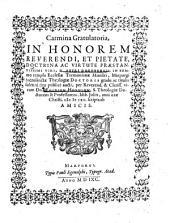 Carmina Gratulatoria, In Honorem Reverendi ... Viri, D. Petri Dornbergii, In Summo templo Ecclesiae Tremonianae Ministri, Marpurgi Sacrosanctae Theologiae Doctoris gradu ... aucti ...