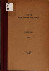 Report and Proceedings of the State Board of Equalization of Kentucky