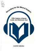Recording for the Blind & Dyslexic, ... Catalog of Books