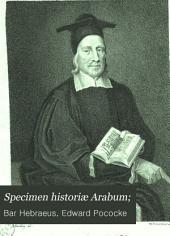 Specimen historiæ Arabum;