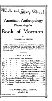 American Anthropology Disproving the Book of Mormon