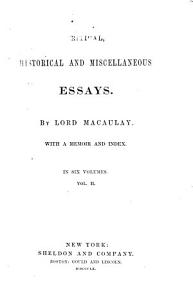 Critical  Historical and Miscellaneous Essays PDF