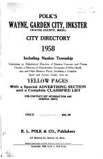 Wayne, Garden City, Inkster City Directories