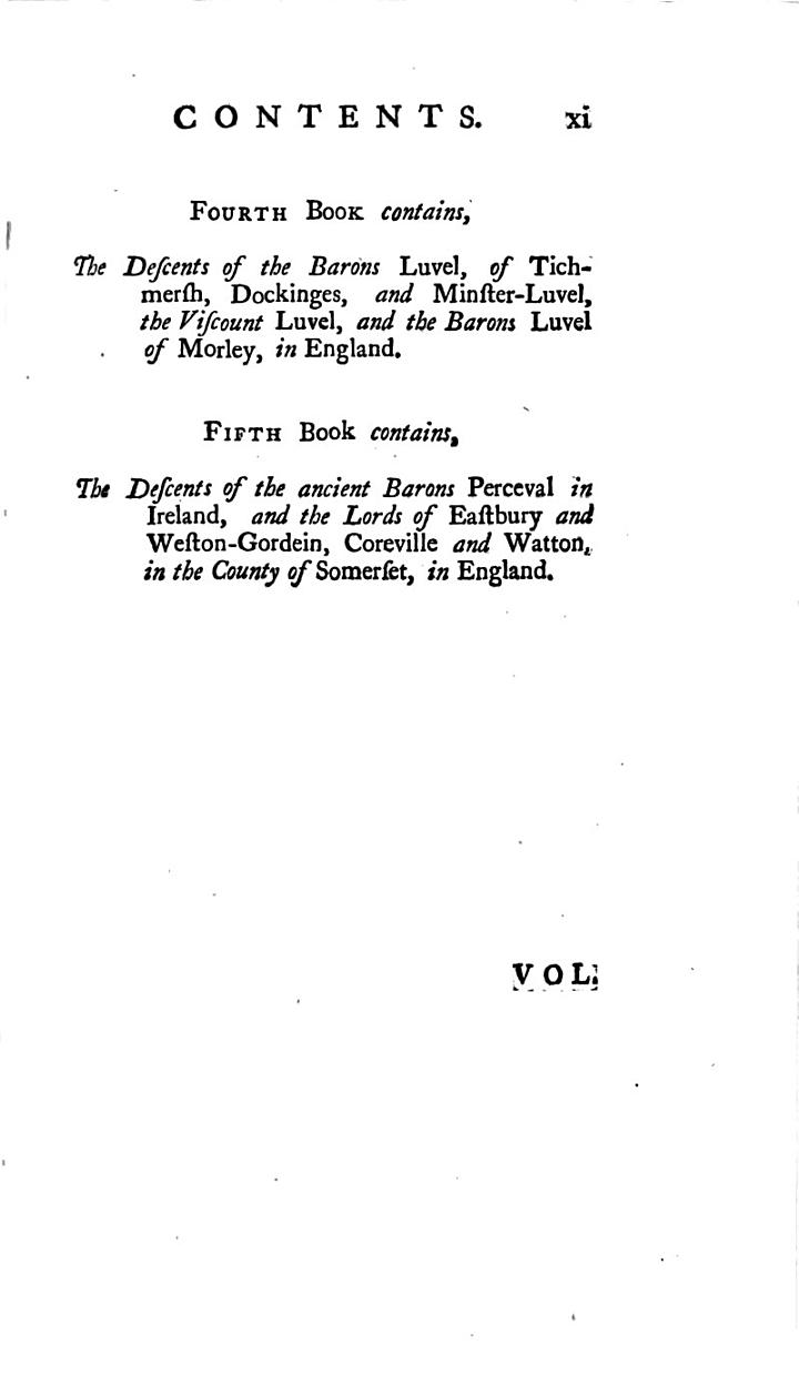A Genealogical History of the House of Yvery