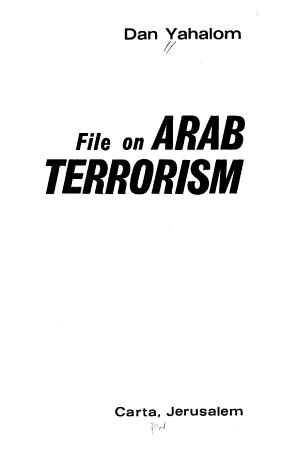 File on Arab Terrorism PDF