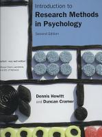 Introduction to Research Methods in Psychology PDF