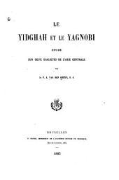Le yidgah et la yagnobi: étude sur deux dialectes de l'Asie Centrale