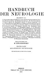 Handbuch der neurologie: bd. Allgemeine Neurologie