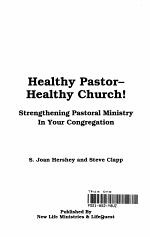 Healthy Pastor - Healthy Church!