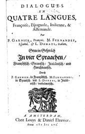 Dialogues en quatre langues, françoise, espagnole, italienne, & allemande