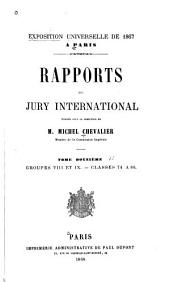 Rapports du Jury international: Volume 12