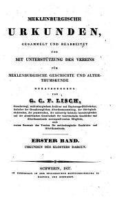 Urkunden des Klosters Dargun: 1