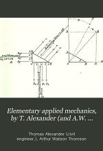Elementary applied mechanics, by T. Alexander (and A.W. Thomson).