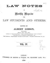 Law Notes: Volume 4