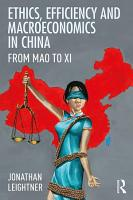 Ethics  Efficiency and Macroeconomics in China PDF