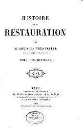 Histoire de la restauration: Volume18