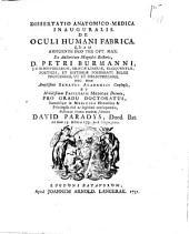 Dissertatio anatomico-medica inauguralis de oculi humani fabrica: Volume 1