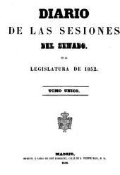 Diario de las sesiones de Cortes: 1852