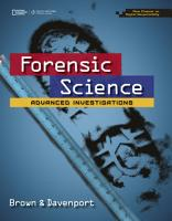 Forensic Science  Advanced Investigations  Copyright Update PDF