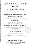 Reflexiones sobre la naturaleza    consideraciones de las obras de Dios en el   rden natural PDF