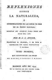 Reflexiones sobre la naturaleza ó consideraciones de las obras de Dios en el órden natural