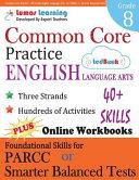 Common Core Practice   8th Grade English Language Arts PDF