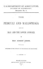 The Pediculi and Mallophaga Affecting Man and the Lower Animals