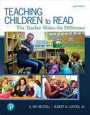Teaching Children to Read Book