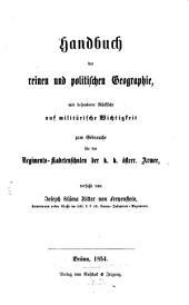 Handbuch der reinen u. politischen Geographie