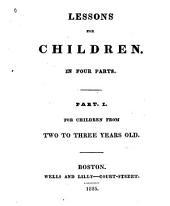 Lessons for children: Volume 1