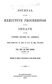 Journal of the Executive Proceedings of the Senate of the United States of America: Volume 14, Issue 2