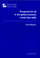 Prosperity for All in the Global Economy -- World Class Skills