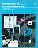 Selected Characteristics of Occupations Defined in the Revised Dictionary of Occupational Titles PDF