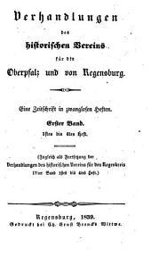 Verhandlungen des Historischen Vereins für Oberpfalz und Regensburg: VHVO, Band 4