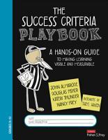 The Success Criteria Playbook PDF