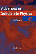 Advances in Solid State Physics 47 PDF