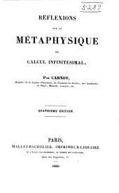 Réflexions sur la métaphysique du calcul infinitésimal