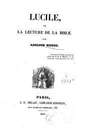 Lucile ou la lecture de la bible